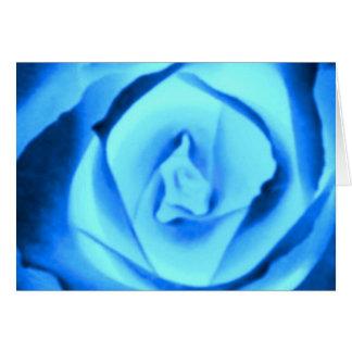 Blue Rose Bud Greeting Cards