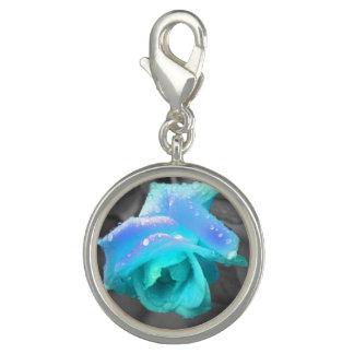 Blue rose charm