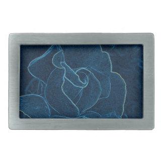blue rose contour belt buckle