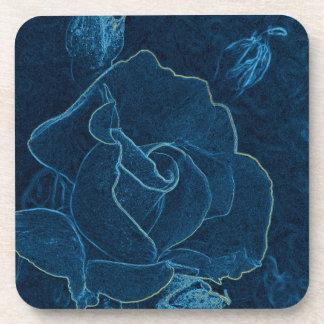 blue rose contour coaster