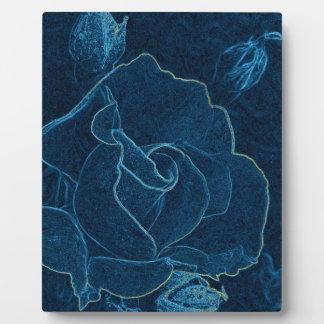 blue rose contour plaque