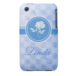 Blue Rose customizable, Iphone4s case iPhone 3 Covers