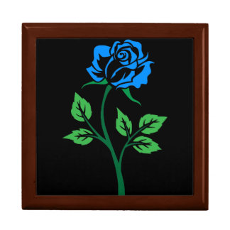 Blue Rose Customizable Large Square Gift Box