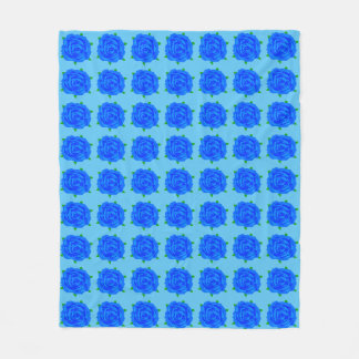 Blue Rose Design on Medium Blanket