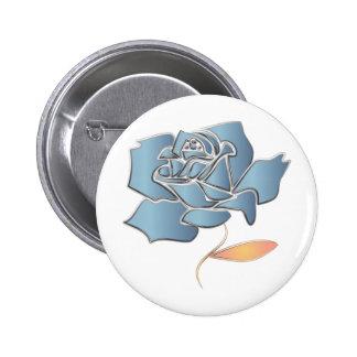 Blue Rose -editable background 6 Cm Round Badge