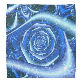Blue Rose Fractal Bandana