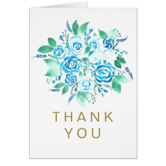 Blue Rose Generic Thank You Card