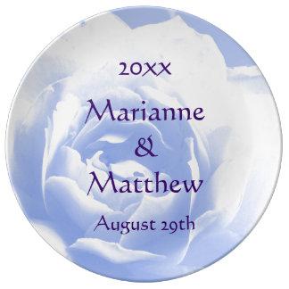 Blue Rose Keepsake Porcelain Porcelain Plate