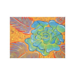 Blue Rose Oil Painting Stretched Canvas Print