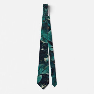 Blue Rose - Painting Style - Art Gift Tie