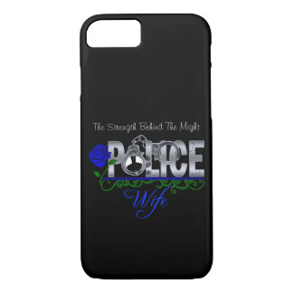 Blue Rose POLICE WIFE iPhone 7 case