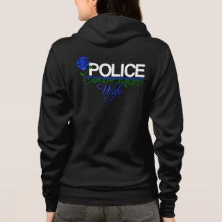Blue Rose POLICE WIFE Zip/Hooded Fleece Sweatshirt