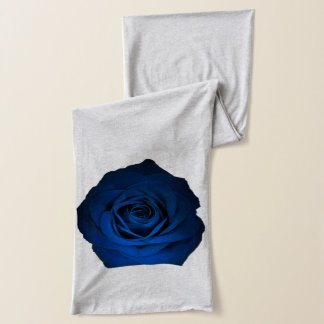 Blue Rose shown on Grey Scarf