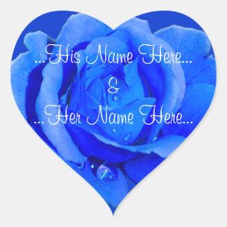 Blue Rose Stickers Romantic Rose Wedding Stickers