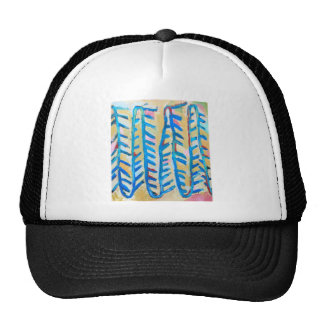 Blue Rose Thorns (abstract expressionism) Hats