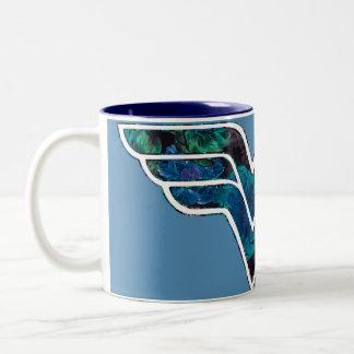 Blue Rose WW Two-Tone Coffee Mug