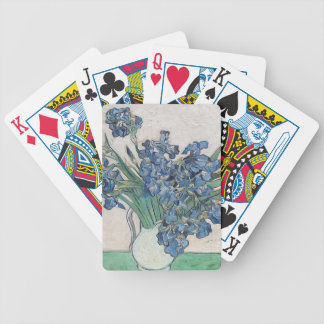 Blue roses bicycle playing cards