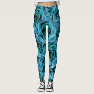 Blue Roses Design Leggings