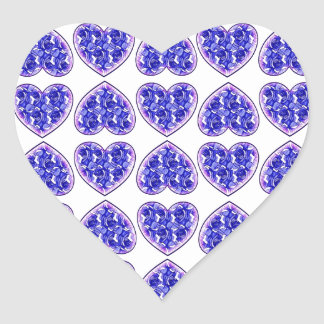 Blue Roses Hearts Sticker