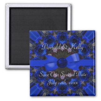 Blue Roses Mandala Wedding Refrigerator Magnet