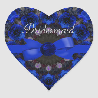 Blue Roses Mandala Wedding Sticker