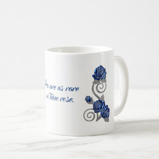 Blue Roses Sentiment Gift Mug