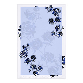 Blue Roses Stationery