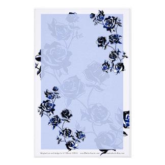 Blue Roses Stationery