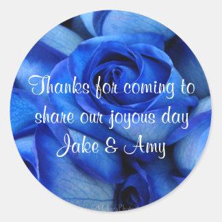 Blue Roses TY Sticker-customize Round Sticker