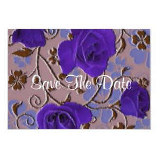 Blue Roses vintage save the date 9 Cm X 13 Cm Invitation Card