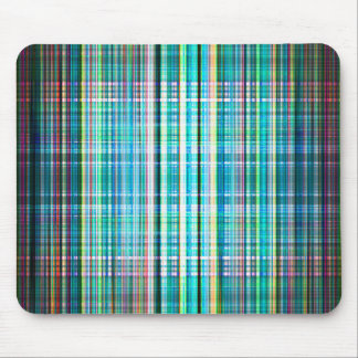 Blue rough stripes pattern mouse pad