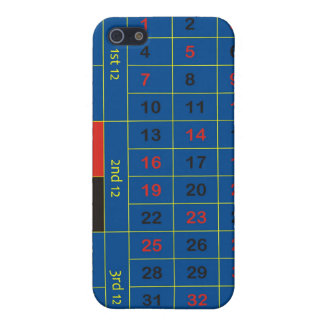 blue roulette layout cover for iPhone 5/5S
