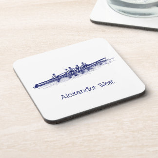 Blue Rowing Rowers Crew Team Water Sports Coaster