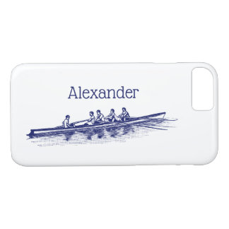 Blue Rowing Rowers Crew Team Water Sports iPhone 8/7 Case