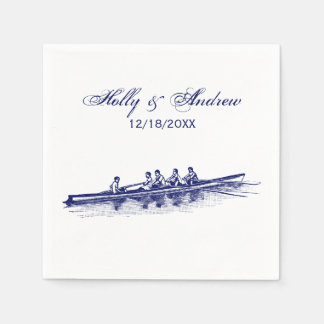 Blue Rowing Rowers Crew Team Water Sports Paper Serviettes