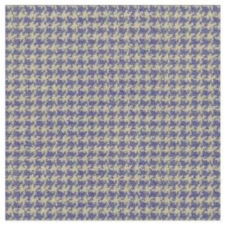 Blue, royal blue, deep sea blue, houndstooth fabric