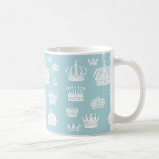 Blue Royal Crown Pattern Mug