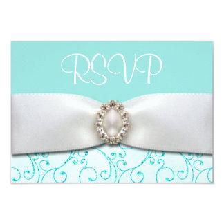 Blue RSVP Wedding Cards
