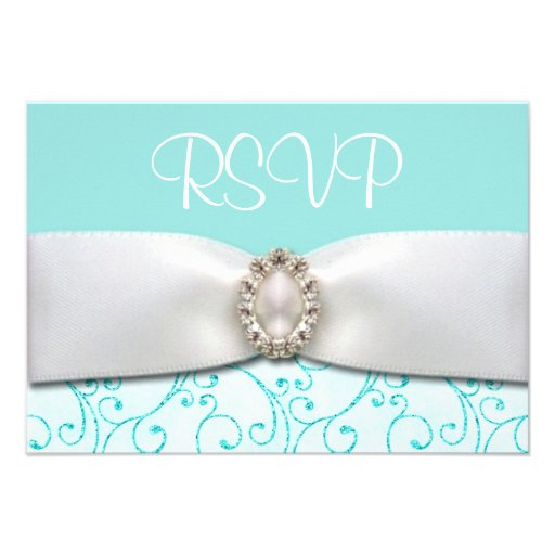 Blue RSVP Wedding Cards Custom Announcements