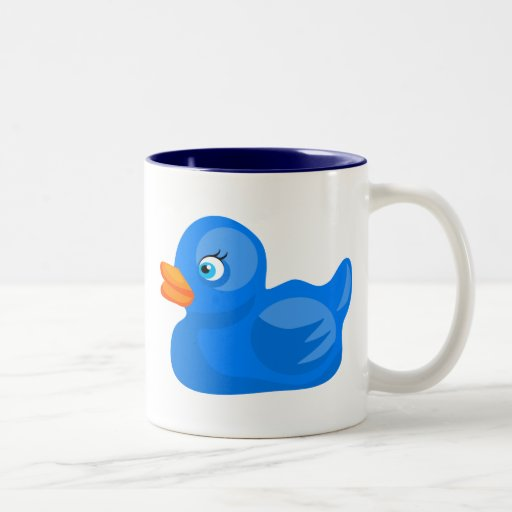 Blue Rubber Duck Two-Tone Mug