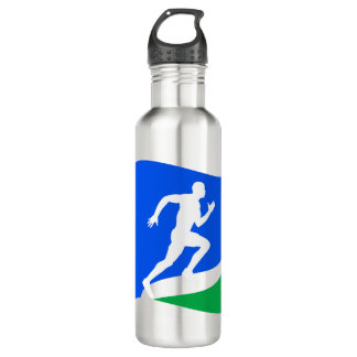 Blue Runner Logo Personalized 710 Ml Water Bottle