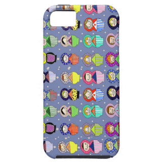 blue russian doll zombies tough iPhone 5 case