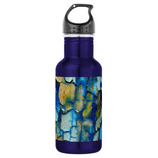 Blue Rust, And Gold Chipping Paint 532 Ml Water Bottle