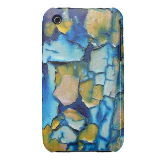 Blue Rust And Gold Chipping Paint iPhone 3 Case