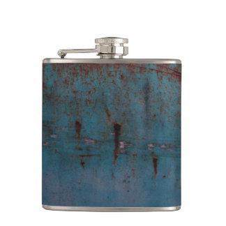Blue Rust Flask