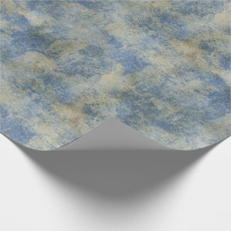 Blue Rustic Texture Wrapping Paper