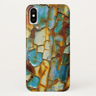Blue Rusty Chipping Paint iPhone X Case