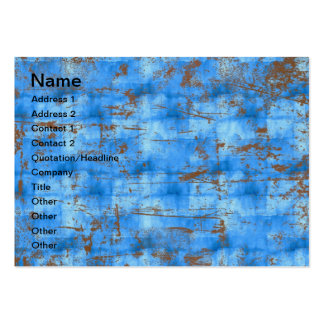 Blue rusty texture business cards