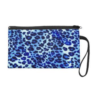 Blue safari Art Wristlet Bag