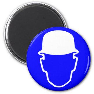 Blue Safety Helmet Magnet